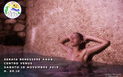 Serata benessere al Venus – sabato 16 novembre 2019