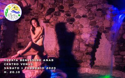 Serata benessere al Venus – sabato 1 febbraio 2020