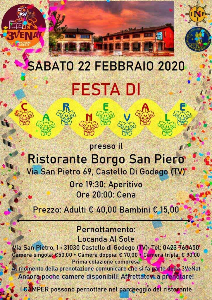 Festa di Carnevale in Veneto 22/23 febbraio  - Fenait