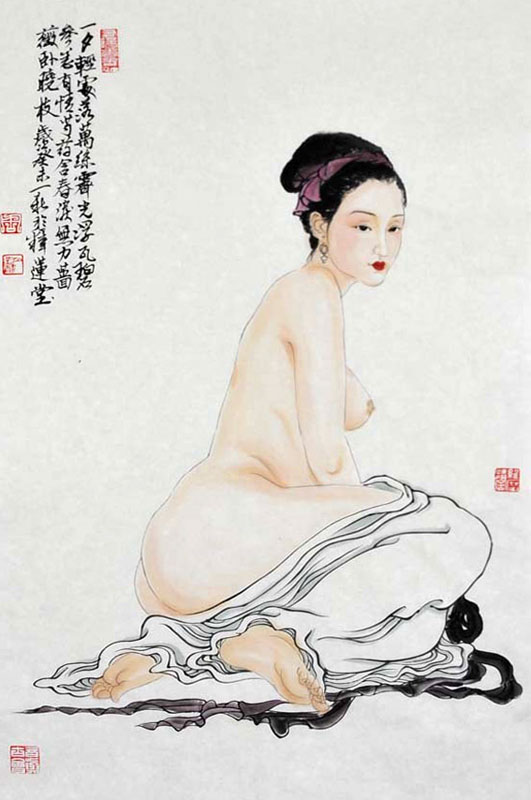 Asian nude painting