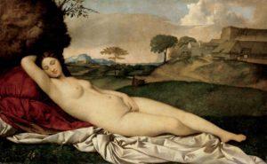 Venere dormiente o Venere di Dresda, Giorgione 1507–10