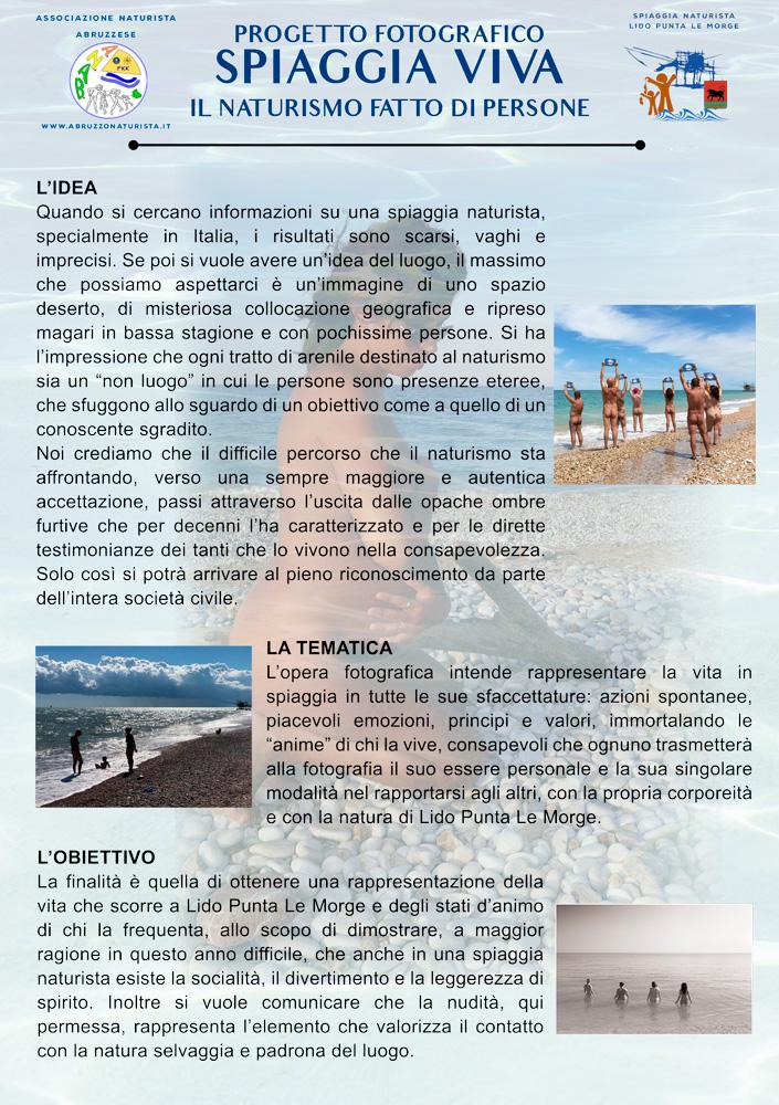 Progetto spiaggia viva Fronte