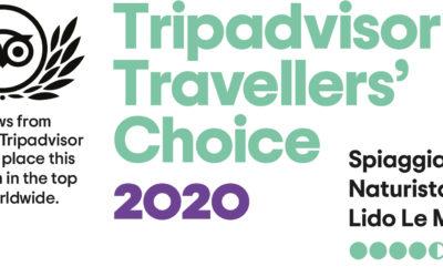 TripAdvisor Travellers' Choice 2020 per Lido Punta Le Morge