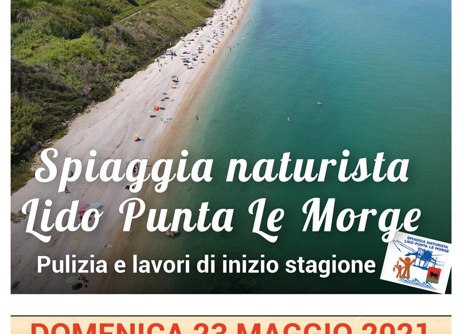Pulizia spiaggia – Lido Punta Le Morge – 23 maggio 2021