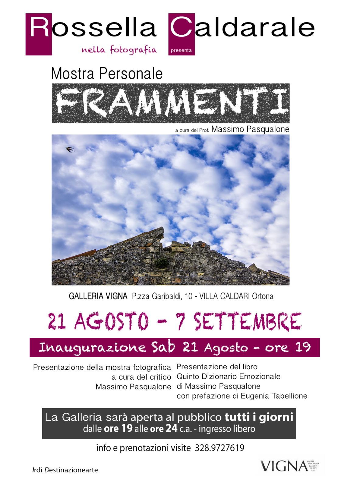 Personale fotografica   FRAMMENTI   5 settembre 2021 - AbruzzoNaturista